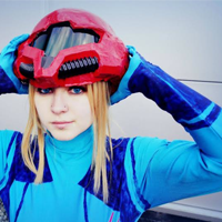 Rathalely Cosplay as Samus Aran from Metriod