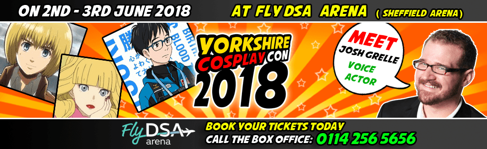 Meet Josh Grelle at Yorkshire Cosplay Con 2018 Sheffiela Arena